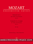 View a sample page! Konzert Nr.5 A-Dur, KV.219 - Mozart, Wolfgang Amadeus