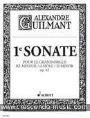 1re Sonate, Op.42. Guilmant, Alexandre