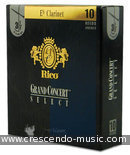 Bb Clarinet reeds 3 (blue). Rico Grand Concert Select