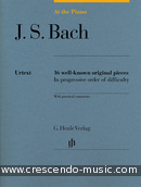 At the Piano: J.S. Bach (16 Well-known pieces in progressive order). Bach, Johann Sebastian