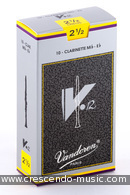 Anches de clarinette mib 2,5 V12 . Vandoren