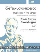 2 Sonatas for Trumpet and Piano, Op.179. Castelnuovo-Tedesco, Mario