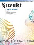 Suzuki Violin School - Vol.8 (Piano accompaniment - Revised edition). Suzuki, Shinishi