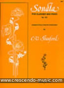 Sonata for clarinet and pianoforte. Stanford, Charles Villiers