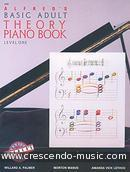 Adult Theory Piano Book - Vol.1. Alfred's Basic Piano Library