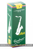 Anches de saxophone ténor 3 Java . Vandoren