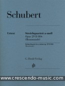 String Quartet a minor Op.29, D 804, Rosamunde. Schubert, Franz