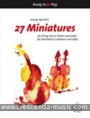 27 Miniatures for String Trio - Ready to Play. Speckert, George A.