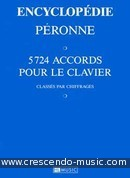 Encyclopédie des Accords (5724 accords pour le clavier). Péronne, Patrick