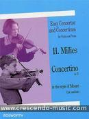 Concertino in D in the Style of Mozart. Millies, Hans