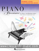 Piano Adventures: Sightreading Book - Primer level. Faber, Nancy; Faber, Randall