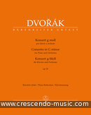 Concerto for Piano and Orchestra G minor, Op.33 B.63 (Piano reduction). Dvorák, Antonín