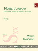 Notes d'antany. Blancafort, Manuel