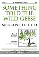 Something Told the Wild Geese. Porterfield, Sherri