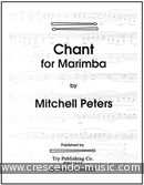 Chant for Marimba. Peters, Mitchell
