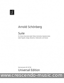 Suite, Op.29 (Set of Parts). Schönberg, Arnold
