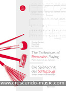 The Techniques of Percussion Playing. Dierstein, Christian; Roth, Michel; Ruland, Jens