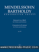 Concerto for Violin and Orchestra E minor op. 64 (2nd version of 1845 - Study score). Mendelssohn Bartholdy, Felix