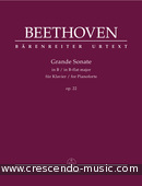 View a sample page! Grande Sonate in B flat major, Op.22 - Beethoven, Ludwig van