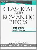 Classical and romantic pieces for cello. Album