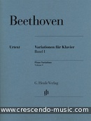Piano Variations - Vol.1. Beethoven, Ludwig van