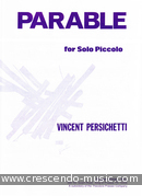 Parable for solo piccolo. Persichetti, Vincent