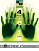 4 More Afro-Caribbean Pieces for 6 Hands at 1 Piano. Cornick, Mike