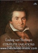 Complete variations for solo piano. Beethoven, Ludwig van