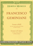 Sonate e-moll. Geminiani, Francesco