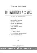 View a sample page! 10 Inventions a 2 voix - Bartsch, Charles
