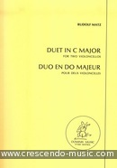 Duet in C major. Matz, Rudolf
