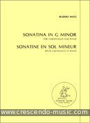 Sonatina in g minor. Matz, Rudolf