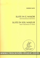 Suite in G major. Matz, Rudolf