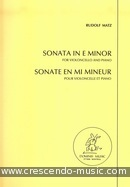 Sonata in e minor. Matz, Rudolf