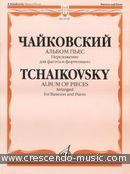 Album of Pieces arranged for Bassoon and Piano. Tchaikovsky, Peter