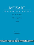 The Magic Flute (Vocal score - hardcover). Mozart, Wolfgang Amadeus