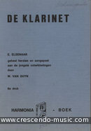 De klarinet. Elsenaar, E.