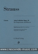 8 Poems, Op.10 (High voice). Strauss, Richard