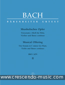 Bekijk een voorbeeldpagina! Musical Offering C minor, BWV.1079 - Vol..2: Triosonate c minor - Bach, Johann Sebastian