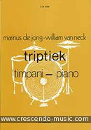 View a sample page! Triptiek (Timpani & piano) - De Jong, Marinus; Van Neck, William
