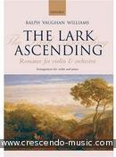 The lark ascending. Vaughan Williams, Ralph