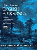 100 English folksongs. Album