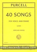 40 Songs (Low voice). Purcell, Henry