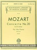 Concerto No.20 in d minor, KV.466. Mozart, Wolfgang Amadeus