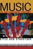 Music of the 20th Century. Simms, Bryan R.