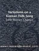 Variations on a korean folksong. Chance, John Barnes