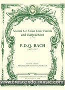 Sonata for viola 4 hnds and harpsichord. Bach, P.D.Q.
