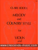 Melody and country style. Liddell, Claire