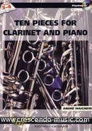 10 Pieces for clarinet and piano. Waignein, André
