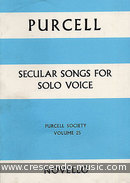 Secular songs for single voice. Purcell, Henry